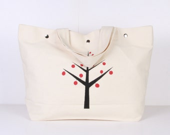Hand painted Tote Bag / Beach Bag / Summer Bag