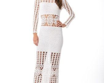 MADE TO ORDER  Crochet Dress  custom made, hand made, crochet -   cotton