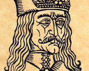 Vlad Dracula Prince of Wallachia Rubber Stamp