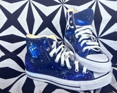 Doctor Who Tardis Custom Chuck Taylor Shoes