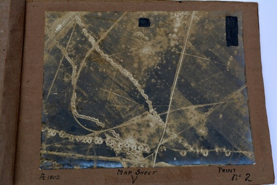1916 RFC Royal Flying Corps Reconnaissance Photos of the Shelling on the Somme Vintage Photo Vintage Miltary WWI Photo Antique Photo
