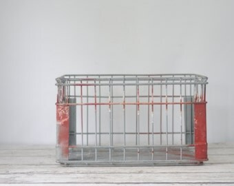 Wire Milk Crate FT Smith ACEE Dairy Metal Large Milk Crate Milk Delivery Crate Box