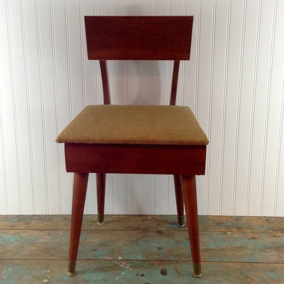 Vintage Sewing Chair With Under Seat Storage Price Reflects