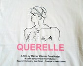 Homage to Fassbinder - QUERELLE T-shirt - homage to Jean Genet - Jean Cocteau drawing - Queer Cinema - Gay History