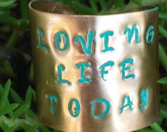 Copper Stamped Ring