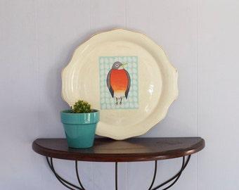 Little Robin Removable Decal / Bird Sticker / Removable Wallpaper / Original Illustration / Vinyl Decal