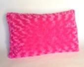 Super Cute, Plush PIllows: Pink Rose Minky