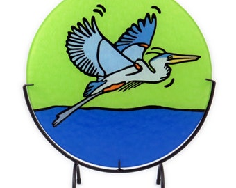 Great Blue Heron  Tempered Glass Cutting Board - 2 Sizes Available