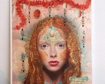 CANCER Astrology Art Print - Zodiac Sign - Original Cancer Illustration - Astrological Horoscope Poster