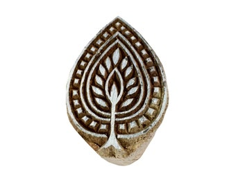 Leaf Pattern Wooden Block for Printing - Textile and Paper Printing Stamp - Block Printing Supply