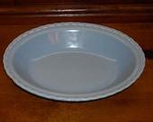 Vintage Vernonware (Metlox) Oval Vegetable Bowl, Native California Blue Serving, Circa 1940s