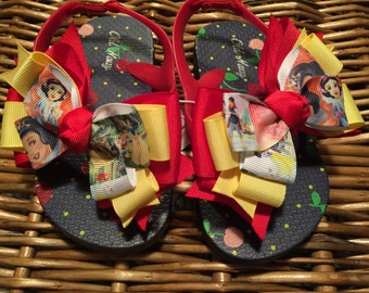 Snow White Toddler Flip Flops Size 8 (last one)