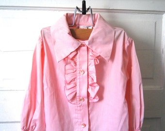 Vintage Child's Pink Ruffle Top, Carol Evans, Penneys