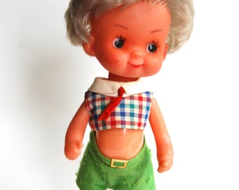 Vintage Yes No Doll from Brevetto, Made in Italy
