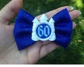 Disney Castle Inspired 60th anniversary hair bow