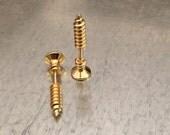 Screw Earrings, 3D Earrings, Earrings, Bohemian Earrings, Tool Earrings, Gold Tone, Gothic Earring, Emo Earrings