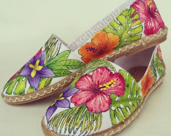 Tropical Handpainted Espadrille