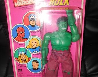 moc 1979 Incredible Hulk mego doll action figure - french card - Marvel Comics - rare