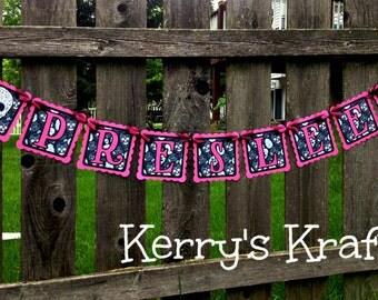 Sugar Skulls Pink and Black Baby Shower Banner