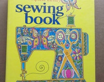 70s vintage the complete family sewing book//manual reference guide//fashion design//curtin publications of NY