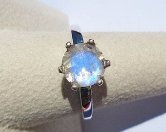 Rainbow Moonstone Sterling Silver Ring 9.25 WAS 60.00 On SALE 50.00
