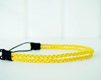 SALE // Double Strand Mustard Yellow Braided Rope Headband