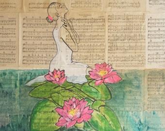 Rebirth- original painting by Parrish Monk