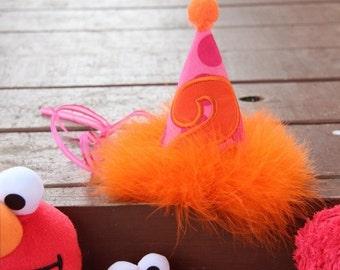 Birthday hat, party hat. Custom birthday hat, custom party hat, smash cake hat, sunshine party hat, 2nd birthday hat, girls birthday hat