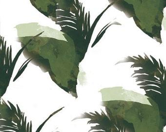 Spaced Designer Palm Leaf Banana Leaf Tropical Pattern Print