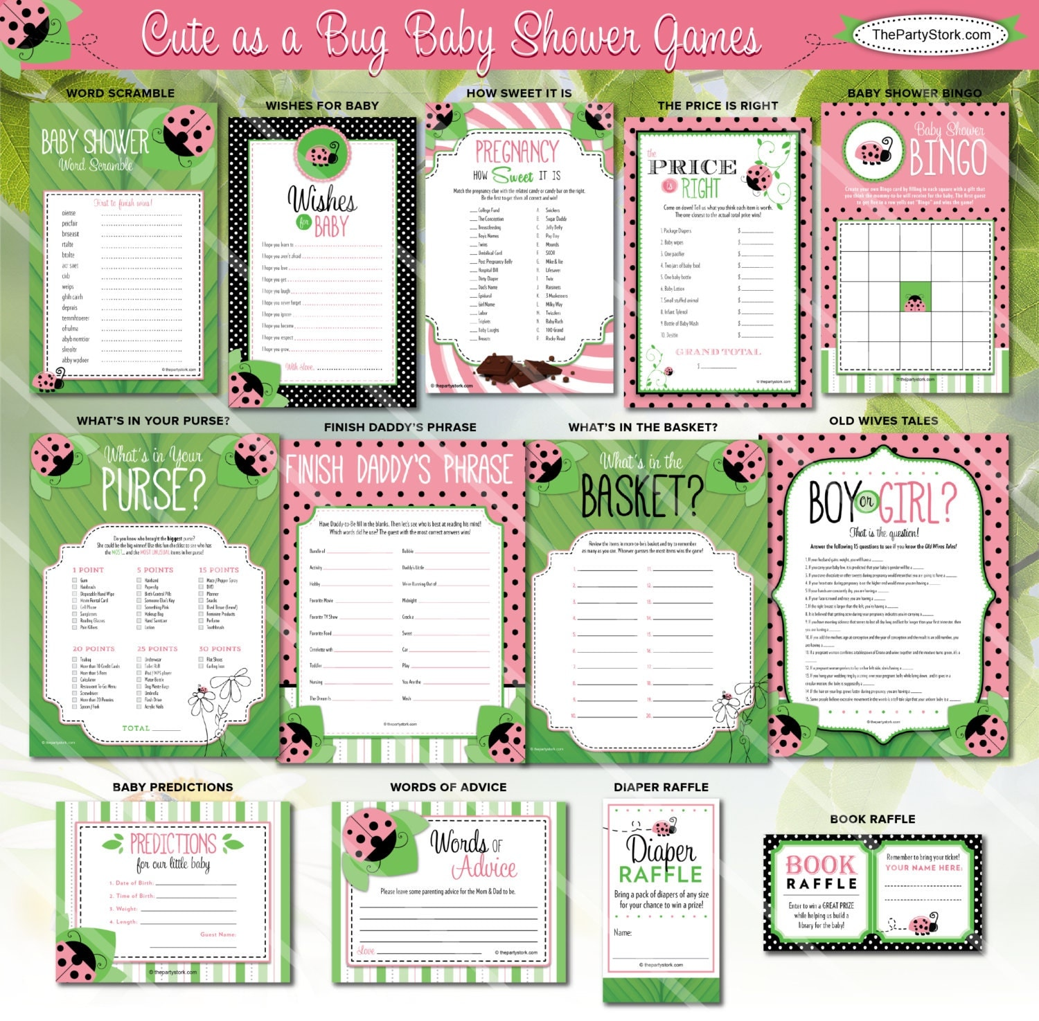 ladybug baby shower games cute as a bug theme fun girl. Black Bedroom Furniture Sets. Home Design Ideas