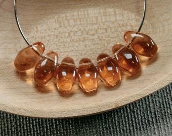 Teardrop beads 20pc 11mm   Topaz brown tear drops   Czech glass teardrop beads   Brown beads   Tear drop beads   Topaz brown teardrops last