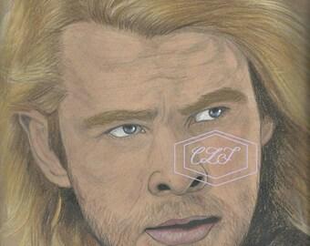 Thor Chris Hemsworth Drawing