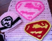 Supergirl crochet pattern (Newborn, instant download)