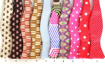 SUPER SALE! self tied free style bowties for your party and wedding