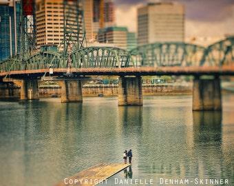 Portland Oregon Print | Skyline | Hawthorne Bridge | Unique Portland Oregon Photo | Oregon Photography | Portland Waterfront