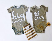 """Swanky Shank Hand-Dyed Cousin Bodysuits """"Cuz We Love You"""""""
