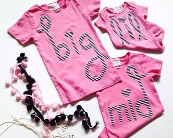 """Swanky Shank Hand-Dyed Sister Shirt """"No Boys Allowed!""""; Lil, Mid, Big"""