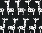 Black and white Giraffe Fabric - Giraffe Stretch Gisella fabric