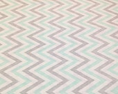 Cloud9 Minty Chevron fabric Fat Quarter