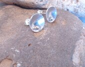 Minimal Sterling Silver Disc Earrings Soldered Post Earrings