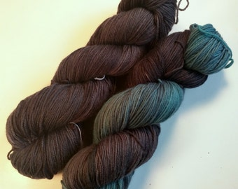 Gloomy Pair on Squishysock MCN fingering weight yarn