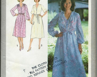 VTG Simplicity 8827 Misses Dress with Tie Belt in Two Lengths Sewing Pattern, Size 10 UNCUT