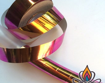 "Desert Dusk 3/4"" 65ft Roll Color Shifting Hoop Tape, Exotic Hoop Tape, Color Morphing Hoop Tape, Color Changing Tape, Iridescent"