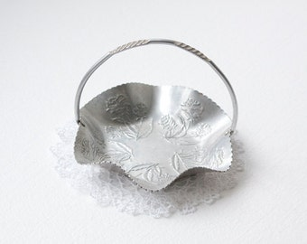 Aluminum Basket with Embossed Detail