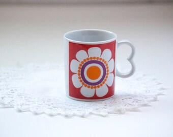 Vintage Floral Mug, Made in Japan
