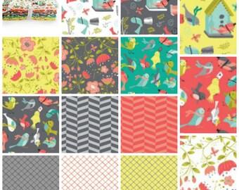 It's a Bird'sLife - Fat Quarter Bundle -Camelot Fabrics - Fat Quarter Bundle - Cotton Fabric - 15 Fat Quarters