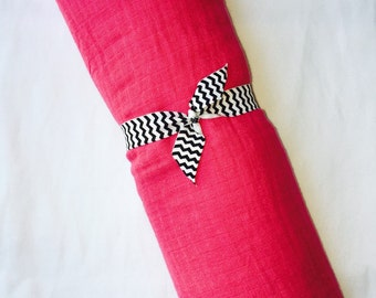 Hot Pink Muslin Baby Blanket~ Free Shipping