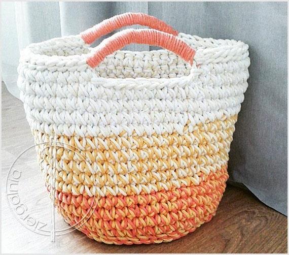 Handmade Cotton Baskets : Items similar to ready ship xxl large handmade chunky