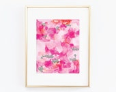 Nursery Art Pink Watercolor Abstract. Nursery Wall Art. Nursery Prints. Nursery Decor. Girl Wall Art. Pink Watercolor Art. Instant Download.