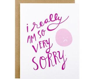 Sympathy Card - Sorry Card - Apology card - Im sorry - So Very Sorry